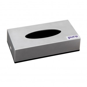 Pure Facial Tissue Dispenser Silver