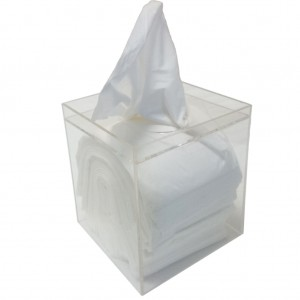 Acrylic Tissue Cube Dispenser Clear