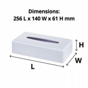 White Rectangle Tissue Box Dispenser