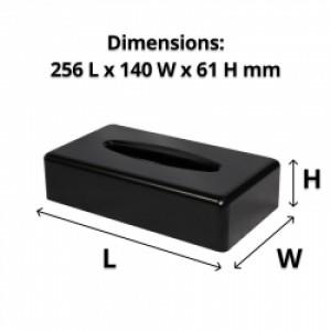 Black Rectangle Tissue Box Dispenser