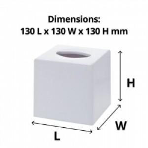 White Cube Tissue Box Dispenser
