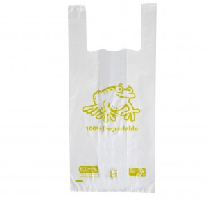 Singlet Bags Biodegradable Small White 220x220x435mm