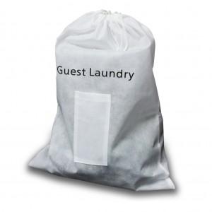 Guest Non Woven White Laundry Bag 45x60cm