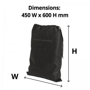 Non-Woven Black Laundry Bag