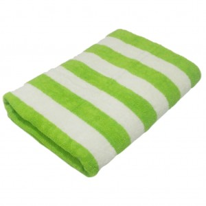 Pool Towel Green White Striped
