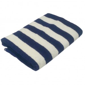 Pool Towel Blue White Striped