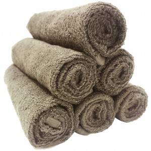 Lodge Linen Mocha Face Cloths