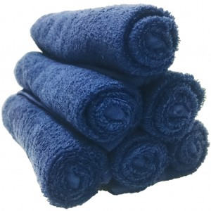 Lodge Linen Navy Face Cloths
