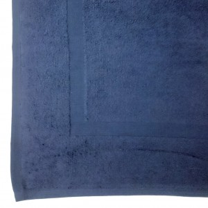 Lodge Linen Navy Bath Mats