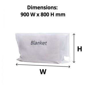 Guest Non-woven White Blanket Bag