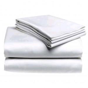 Commercial White Flat Sheet 250 Thread 5050 PolyCotton 285 x 306 King