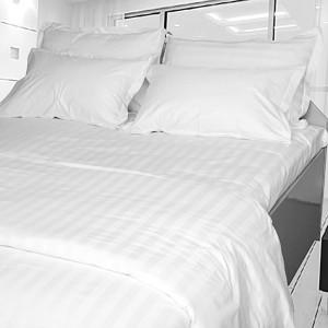 White Pillowslip 20mm Striped