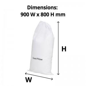 Guest Non-woven White Pillow Bag