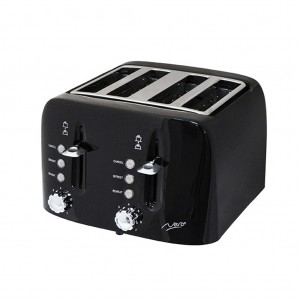 Nero Black Toaster 4 Slice Square Style 1900W