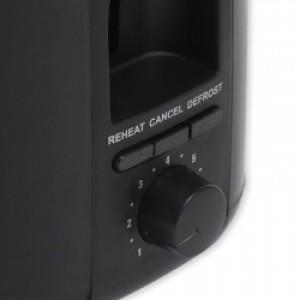 Nero Black Toaster 2 Slice 850W
