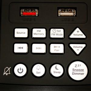 Nero Titanium Bluetooth Clock Radio