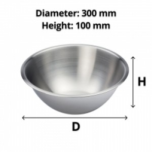 Deluxe Stainless Steel Mixing Bowl 4L