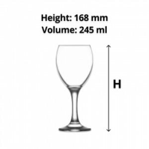 LAV Empire Wine Glass 245ml (24)