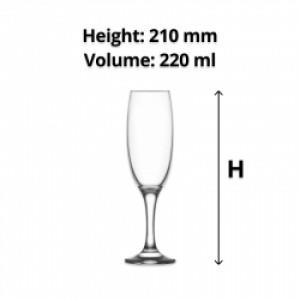 LAV Empire Champagne Flute 220ml (24)