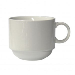 Connoisseur White Porcelain Stackable Cup 225ml 6