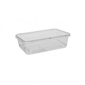 Containers Rectangle Clear Plastic 1000ml 500