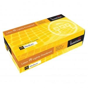 Bastion Latex LP Medium Disposable Gloves 100