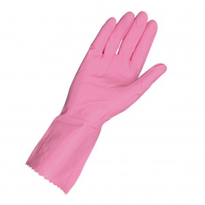 Red Rubber Gloves Small 1pr