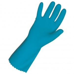 Blue Heavy Duty Rubber Gloves Medium 1pr