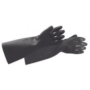 Black Latex Chemical Resistant Gloves XL