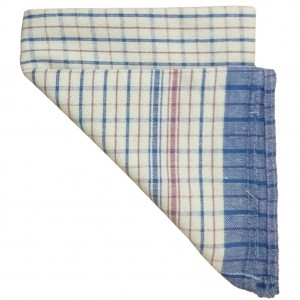 Tea Towels Blue Red White Check 12