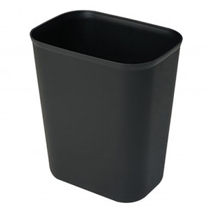 15L Rectangle Black Plastic Waste Bin