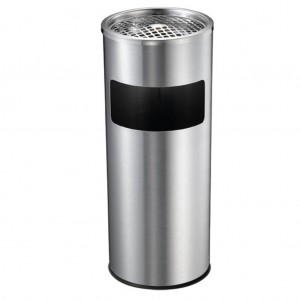 10l Stainless Steel Bin And Ashtray