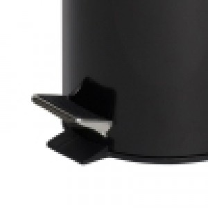 5L Black Powder Coated Pedal Bin