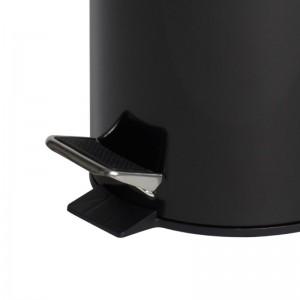 12L Black Powder Coated Pedal Bin