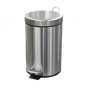 29681_5L Round Stainless Steel Pedal Bin