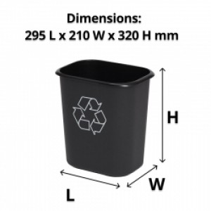 14L Rectangle Plastic Recycling Bin