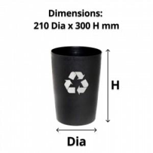 Compass 8L Round Recycling Bin Black