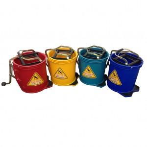 16L Wringer Mop Bucket - Yellow