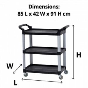 Compass Compact 3 Shelf Utility Cart
