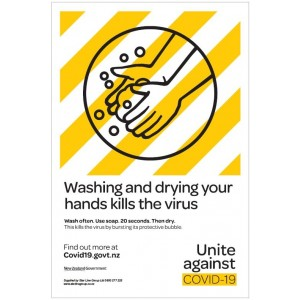 Covid-19 Wash Your Hands PVC Wall Sign