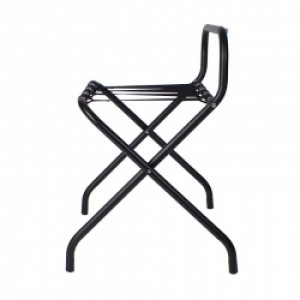 Black Luggage Rack With High Back