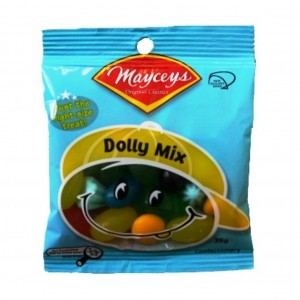 Mayceys Dolly Mixture 35gm Smiley Bag x24