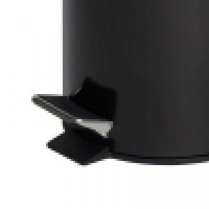 3L Round Black Pedal Bin