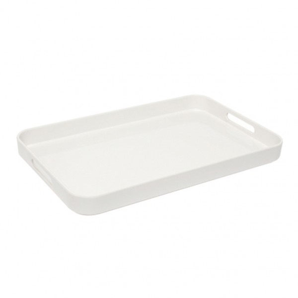 Large White Melamine Tray With Handles Trays Food